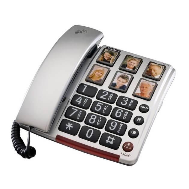טלפון שולחני מוגבר לכבדי שמיעה