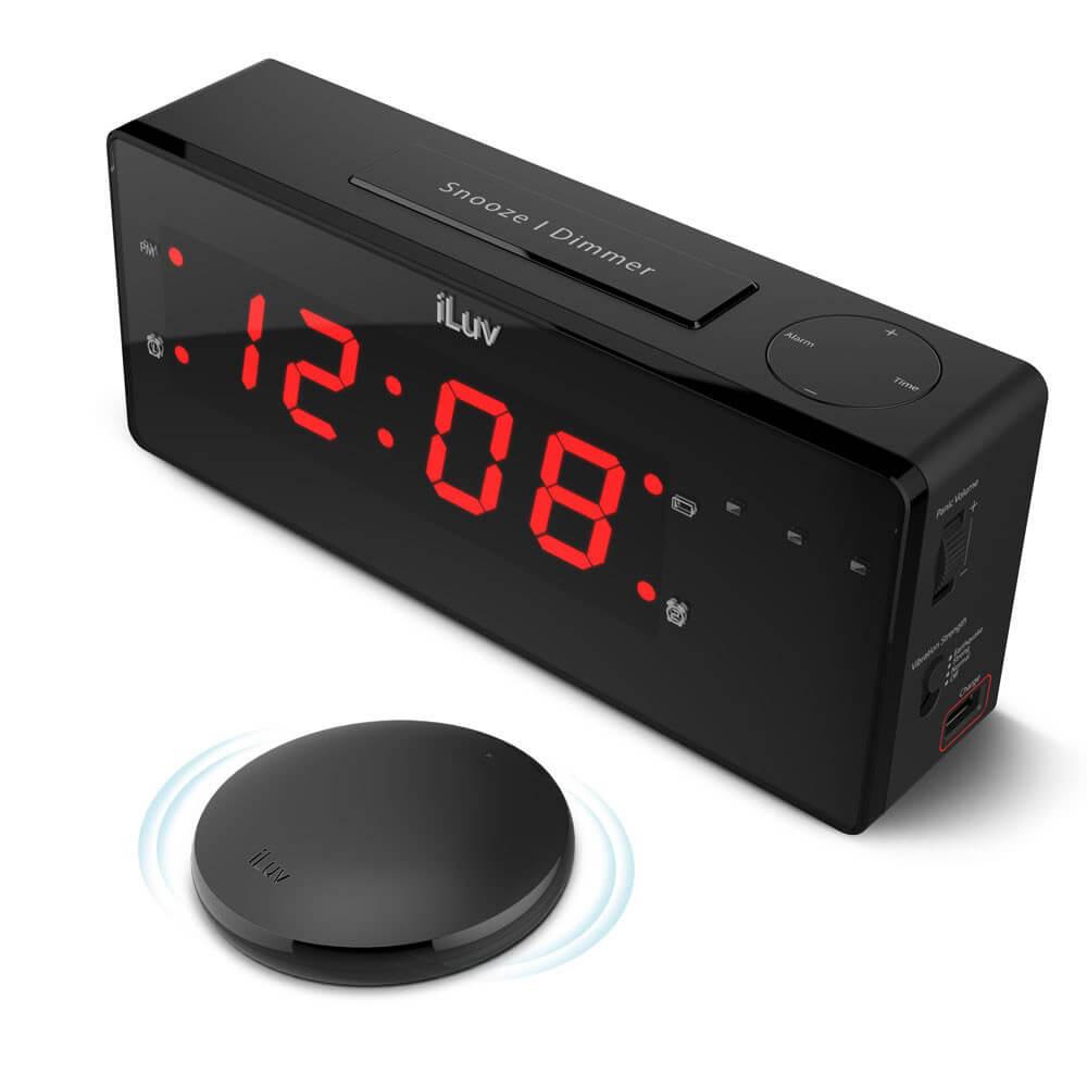 שעון מעורר עם כרית רטט לכבדי שמיעה